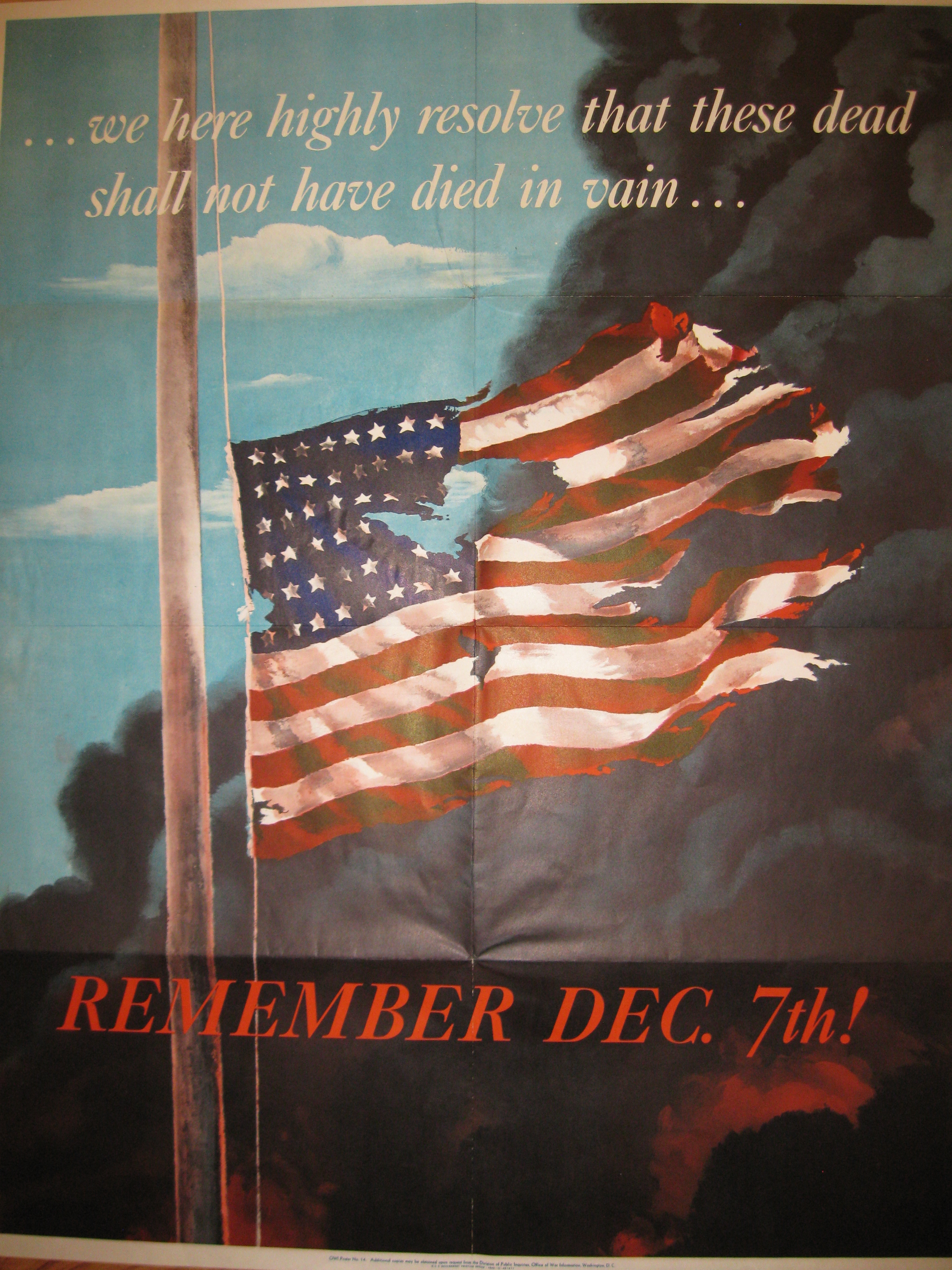 from Roger: Pearl Harbor poster, 1942