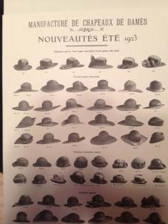 from Fiona: French ladies' hats advertisement, 1923