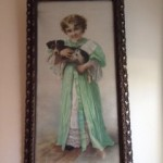 from Shelly: painting of child with dog