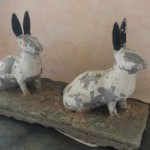 from David: ornamental lawn rabbits