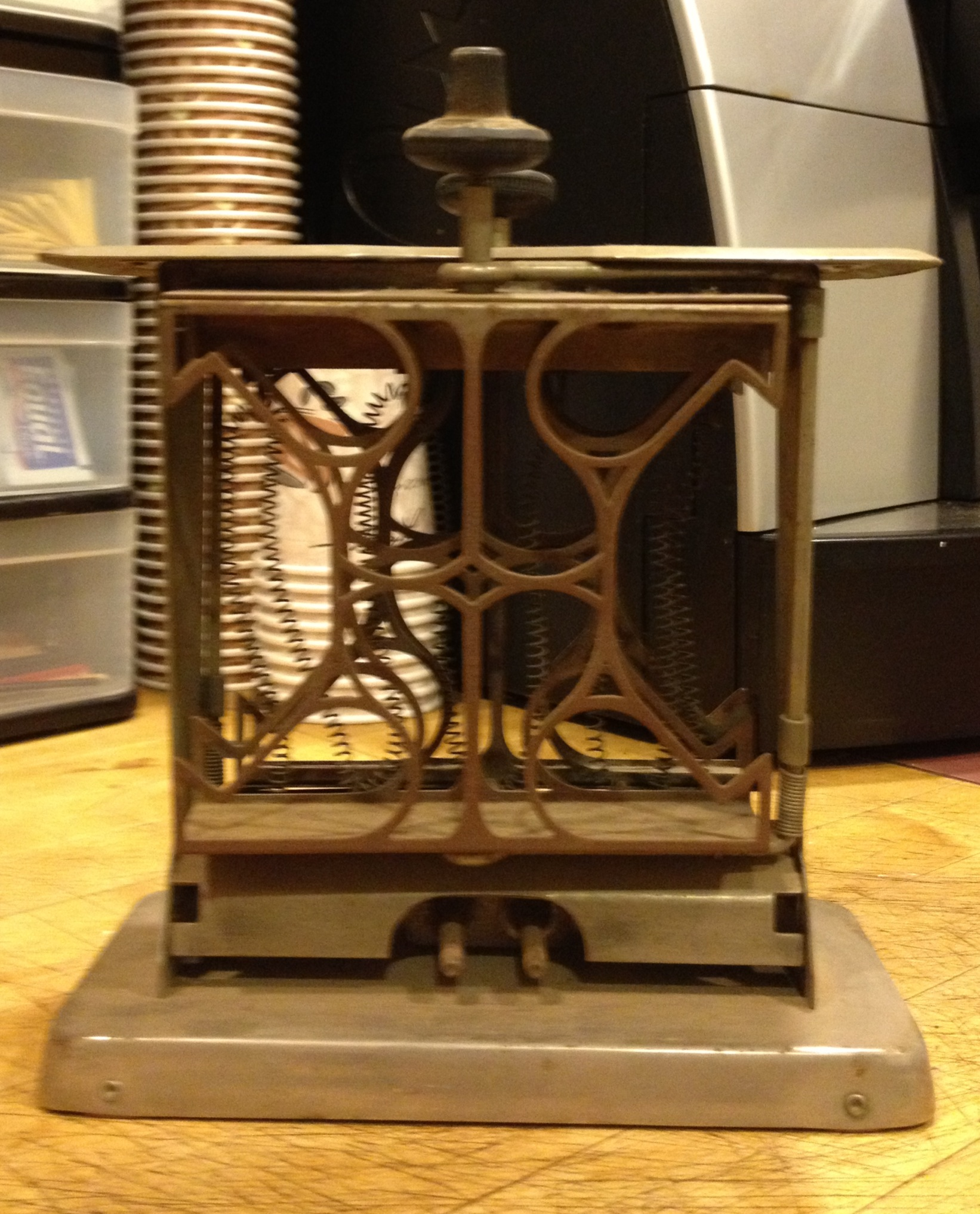 from Claire: 1920s electric toaster, made in Torrington, CT